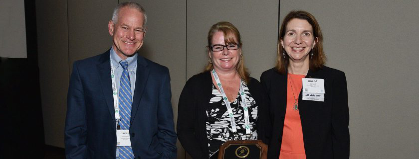 Alison Holmes, MD, Bonny Whalen, MD, and Steve Chapman, MD, received the Academic Pediatric Association's Health Care Delivery award. Not pictured 七月ia Frew MD, and Daisy Goodman, DNP, MPH.